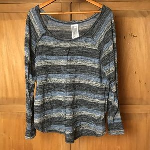 Free people lightweight sweater pullover striped